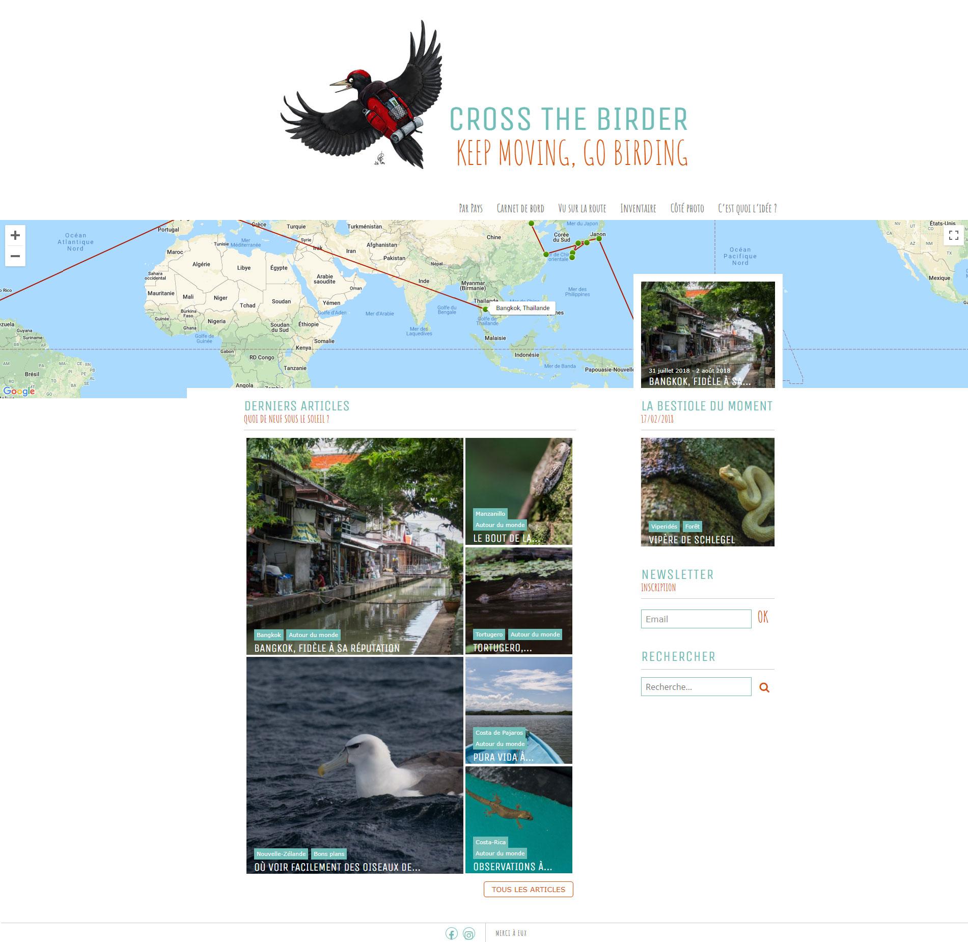 Cross The Birder Home