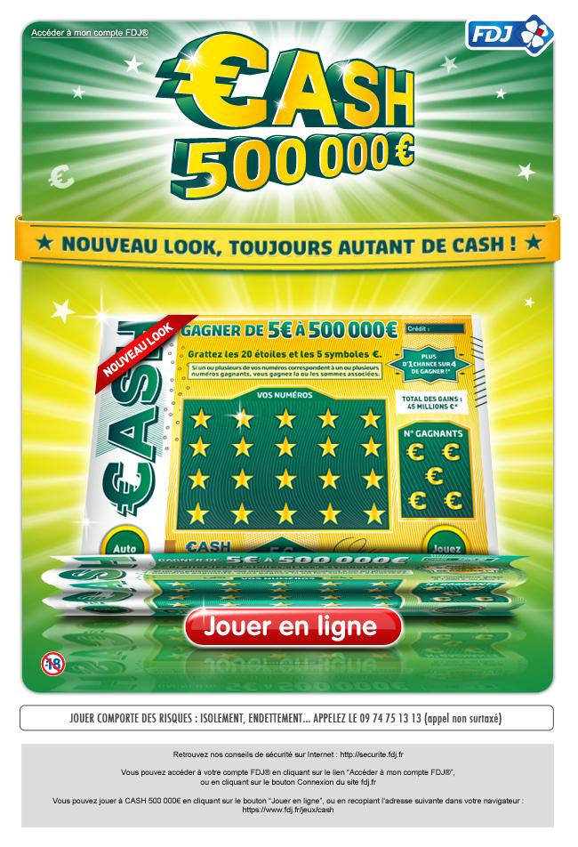 Newsletter FDJ®   Cash 500 000