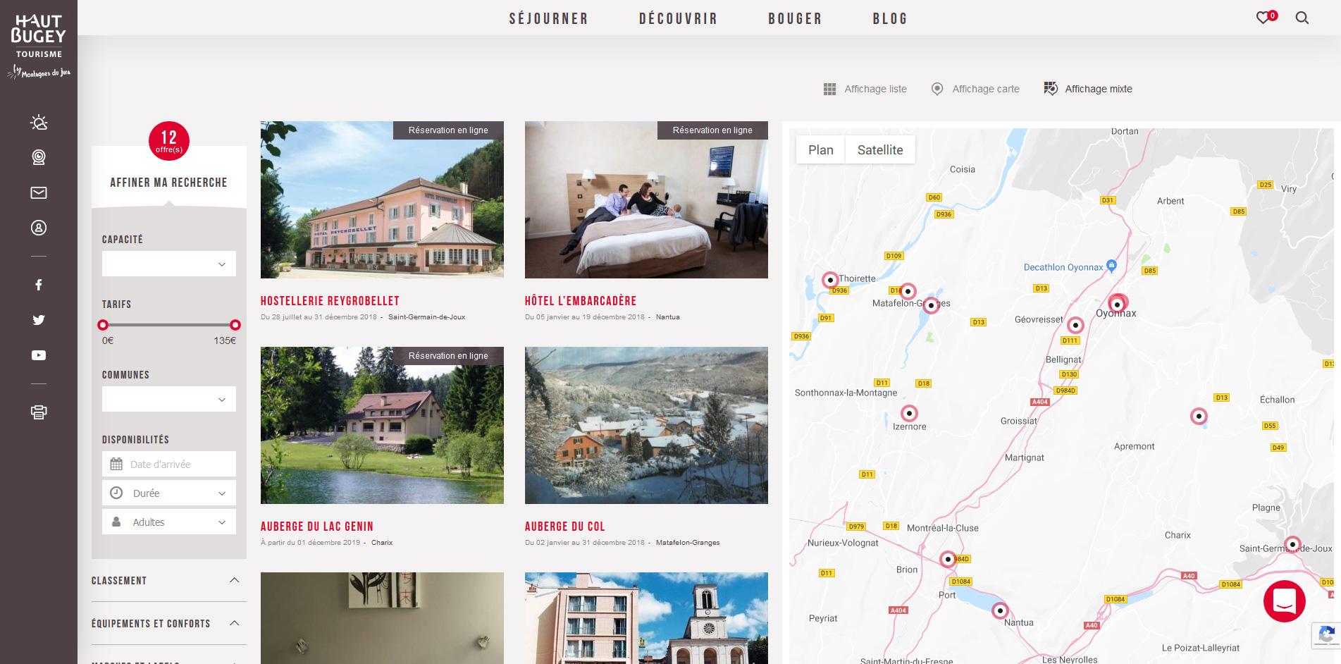 Haut Bugey tourisme | Liste d'éléments e-tourisme