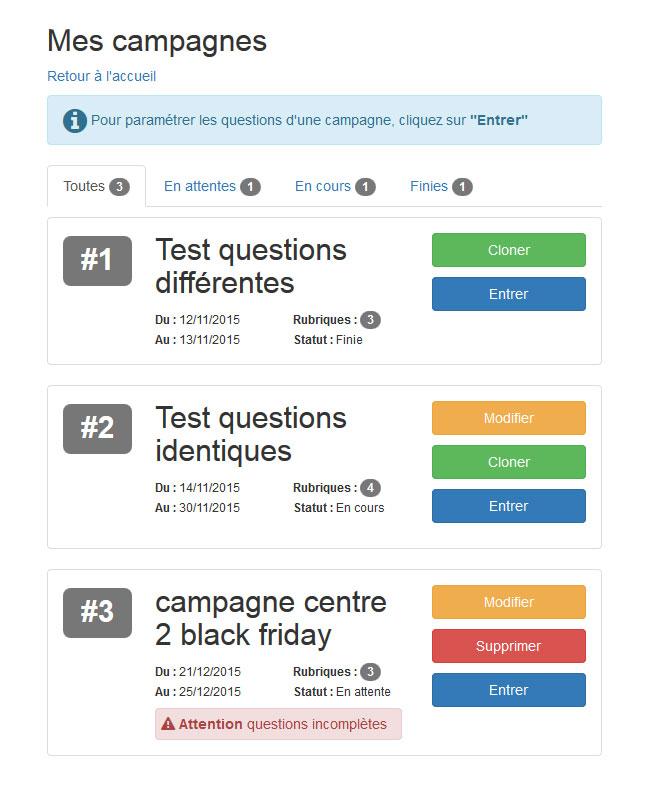 Mon Quiz | Campagnes